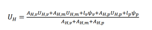 formula calculo transmitancia termica huecos