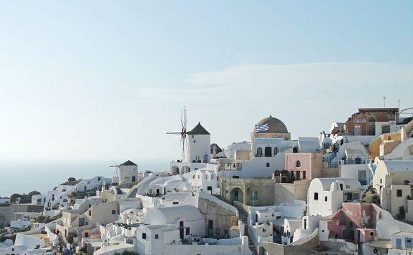 Casas del mediterraneo con mortero de yeso o cal