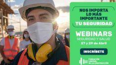 Dos nuevos webinars sobre prevención de riesgos de la Fundación Laboral de la Construcción