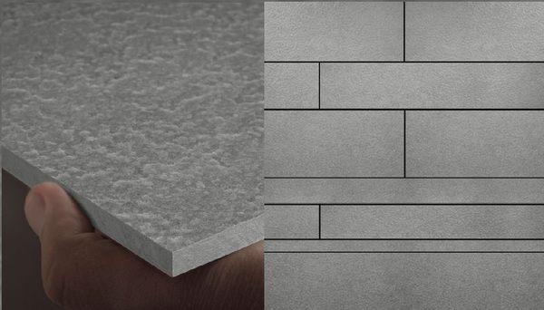 material para fachada equitone [lunara] en gris