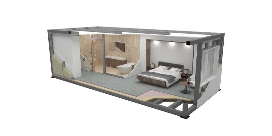 módulo prefabricado de la habitación industrializada de nova