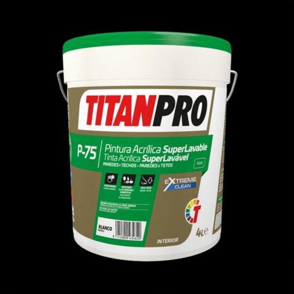 titanpro superlavable p75 4L pinturas sostenibles